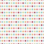 Colorful flat repeat wall paper polka dot design.