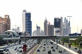 Traffic At The Sheikh Zayed Road