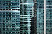 Modern Office Building Glass Window  Facade Detail