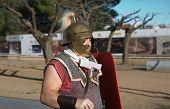 Roman Soldier On Parade