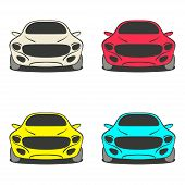 car set four colors