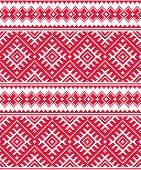 Ukrainian red seamless folk emboidery pattern or print