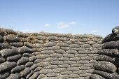 foto of sandbag  - Trenches of death WW1 sandbag flanders fields Belgium - JPG