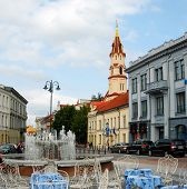 The Town Hall Square (rotuses Aikste) In Vilnius