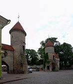 Viru Gate, Entrance To The Old Town In Tallin