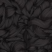Seamless Dark Wave Hand-drawn Pattern