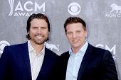 LAS VEGAS - APR 6:  Joshua Morrow, Steve Burton at the 2014 Academy of Country Music Awards - Arriva