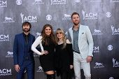 LAS VEGAS - APR 6:  Dave Haywood, Hillary Scott, Stevie Nicks, Charles Kelley at the 2014 Academy of