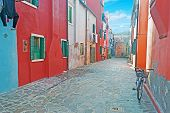 Backstreet In Burano