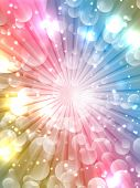 Abstract design background with colourful starburst
