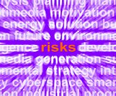 Risks Word Shows Investment Profit And Loss
