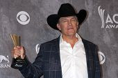 LAS VEGAS - APR 6:  George Strait at the 2014 Academy of Country Music Awards - Arrivals at MGM Gran