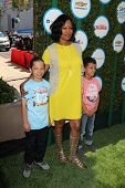 LOS ANGELES - APR 5:  Garcelle Beauvais, sons at the Safe Kids Day Los Angeles 2014 at The Lot on Ap