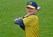 image of children playing  - young boy playing baseball or t - JPG