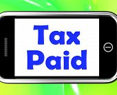 Tax Paid On Phone Shows Duty Or Excise Payment