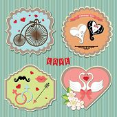 Labels With Wedding Elements.retro