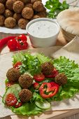 Falafel On Salad Leaves