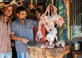 Butchers In Vellore Perfoming Their Trades.