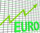 Euro Chart Graph Shows Increasing European Economy