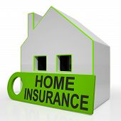 Home Insurance House Shows Premiums And Claiming