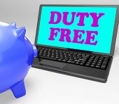 Duty Free Laptop Shows No Tax On Goods