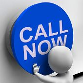 Call Now Button Shows Assistance And Support Center