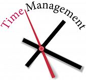 Time clock measure time management personal or business efficiency