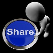 Share Button Means Sharing With And Showing