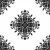 Decorative fractal in arabic or muslim style