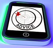 Advice Smartphone Shows Web Tips And Recommendations