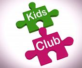 Kids Club Puzzle Shows Play And Fun For Children