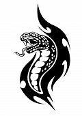 Viper Tribal Tattoo