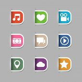 Collection of social media pictograms