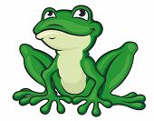 Cartoon Green Frog