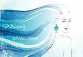 Whisper of the ocean background