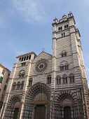 pic of genova  - Genoa Cathedral aka Duomo di Genova or Cattedrale di San Lorenzo seat of the Archbishop of Genoa - JPG
