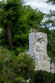 stock photo of revolutionary war  - Memorable memorial to soldiers of the Civil War revolutionaries - JPG