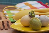 Easter Eggs And Kitchen Utensils