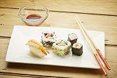 Sushi With Chopsticks