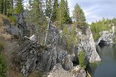 picture of groundwater  - Filled with groundwater former marble quarry - JPG