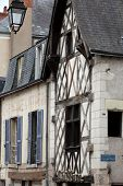 Half-timbered house in Blois Loire Valley France