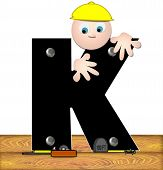 Alphabet Construction Worker K