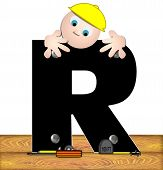 Alphabet Construction Worker R