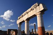 famous antique ruins of town pompeii in southern italy