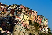 Traditional Mediterranean Architecture Of Manarola, Italy
