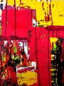 abstract hand draw acrylic painting composition