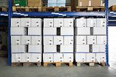 Warehouse Pallets Boxes