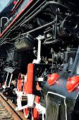 image of train-wheel  - wheel detail of a vintage steam train locomotive - JPG