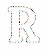Letter R With Pushpin