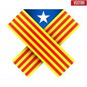 Ribbon of independence Catalonia.